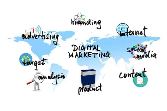 Digital marketing graphics